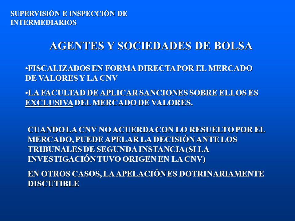 AGENTES Y SOCIEDADES DE BOLSA