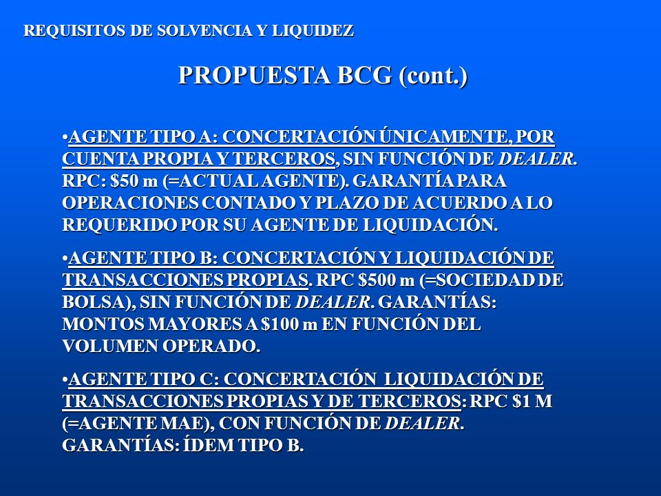REQUISITOS DE SOLVENCIA Y LIQUIDEZ