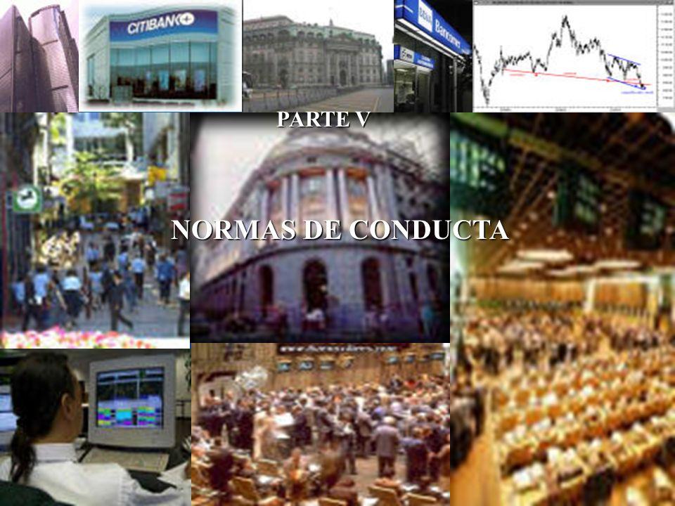PARTE V NORMAS DE CONDUCTA