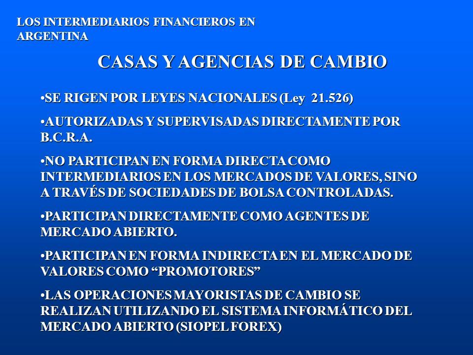 CASAS Y AGENCIAS DE CAMBIO