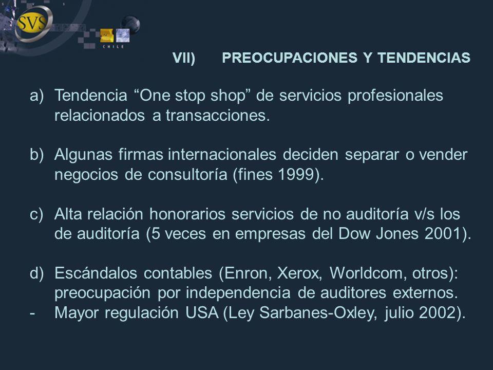 VII) PREOCUPACIONES Y TENDENCIAS