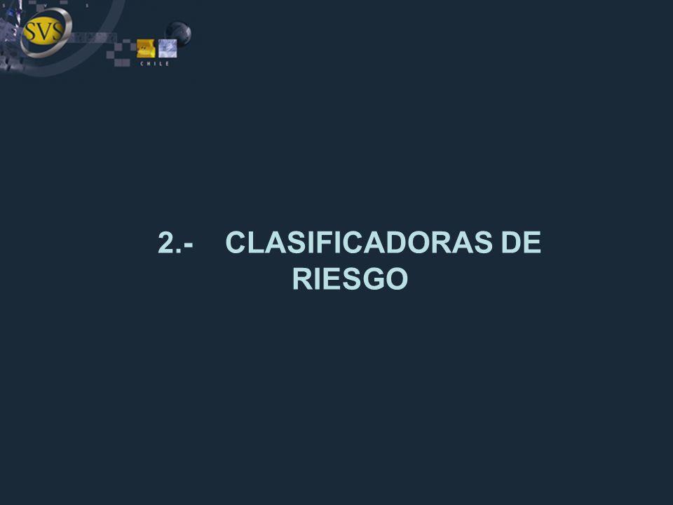2.- CLASIFICADORAS DE RIESGO