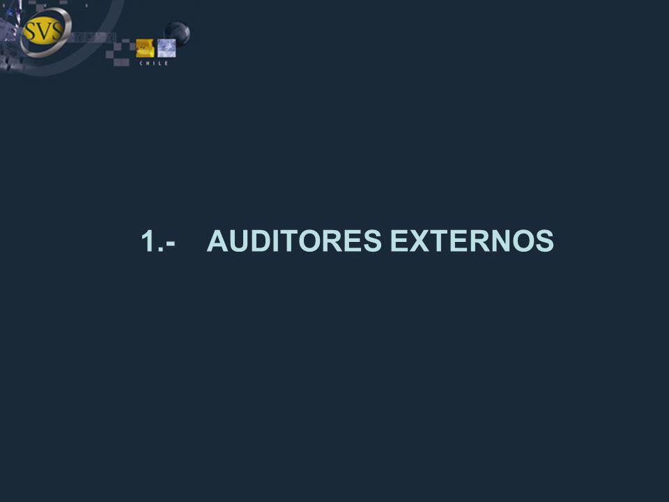 1.- AUDITORES EXTERNOS