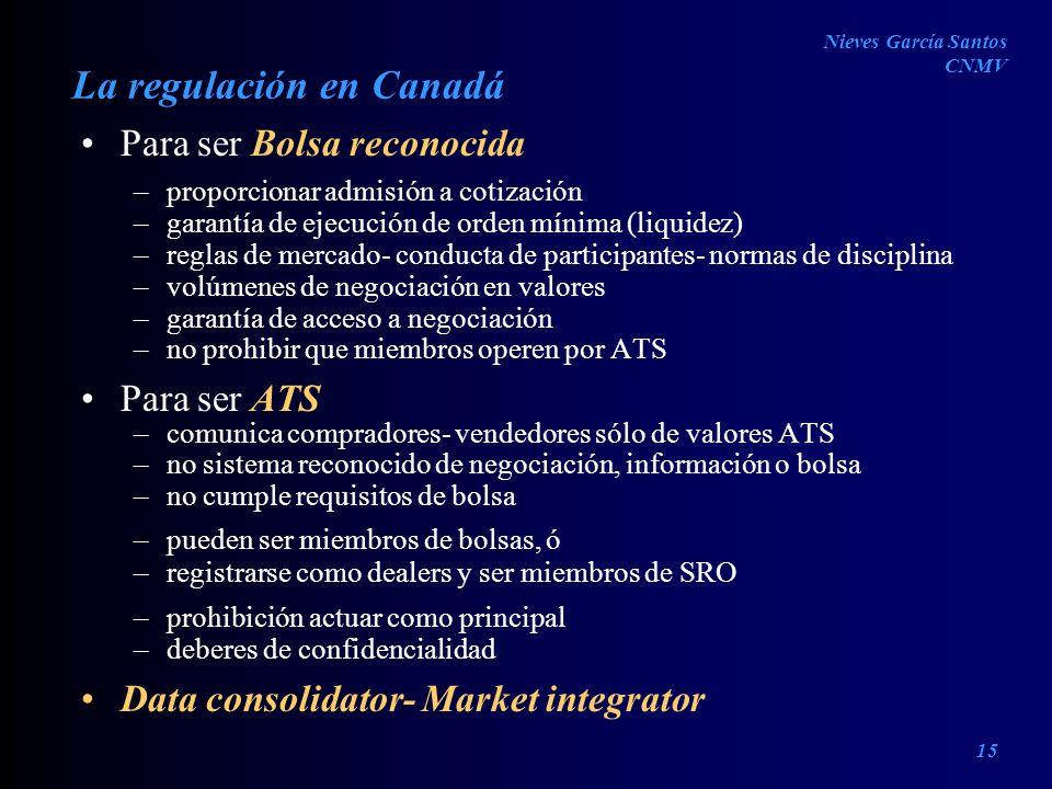 La regulación en Canadá