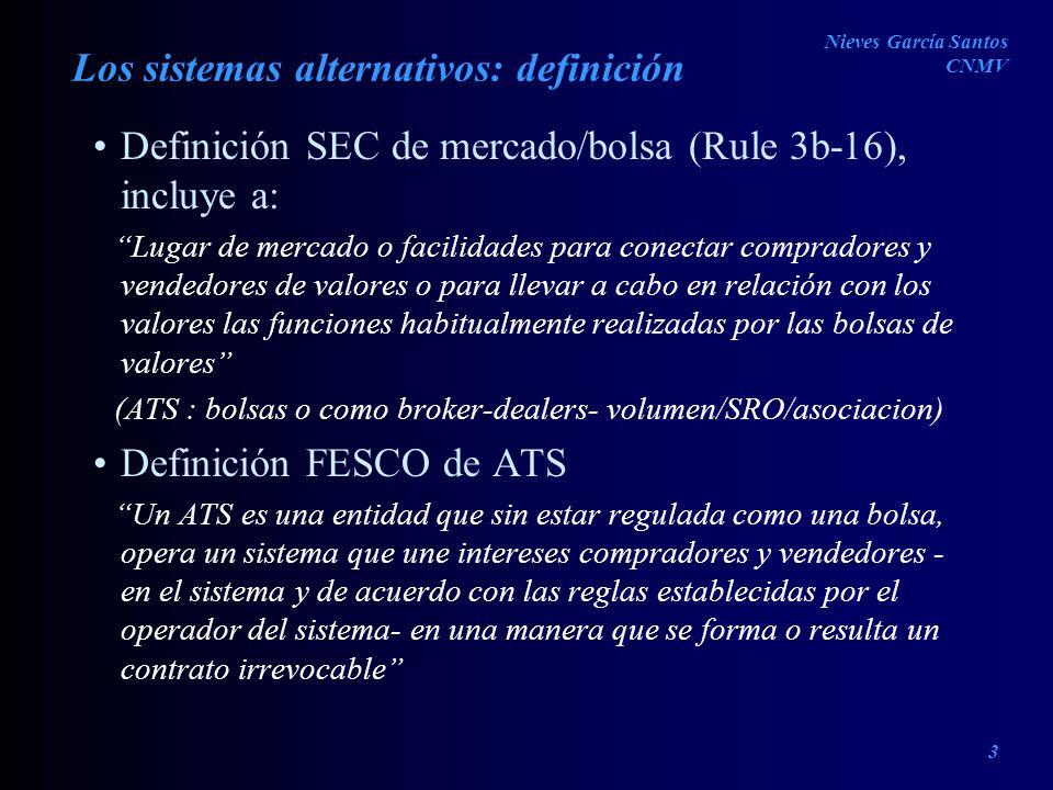 Los sistemas alternativos: definición
