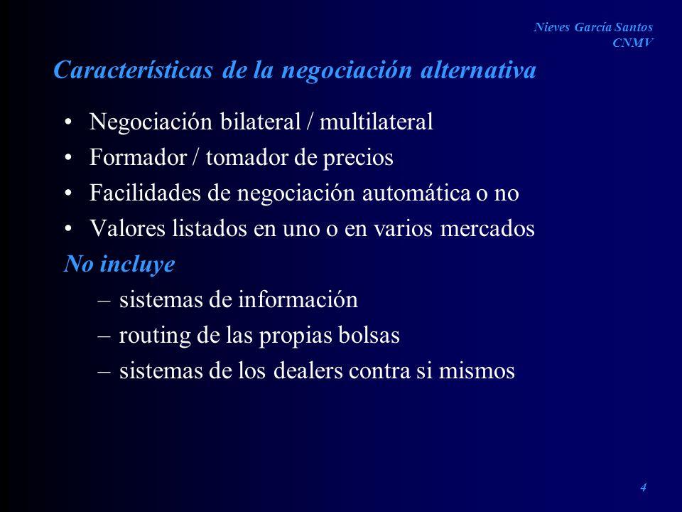 Características de la negociación alternativa