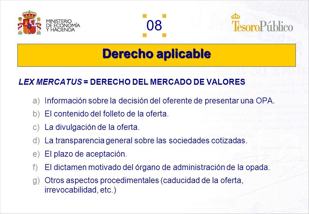 Derecho aplicable LEX MERCATUS = DERECHO DEL MERCADO DE VALORES