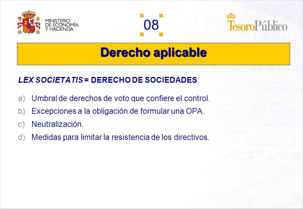 Derecho aplicable LEX SOCIETATIS = DERECHO DE SOCIEDADES