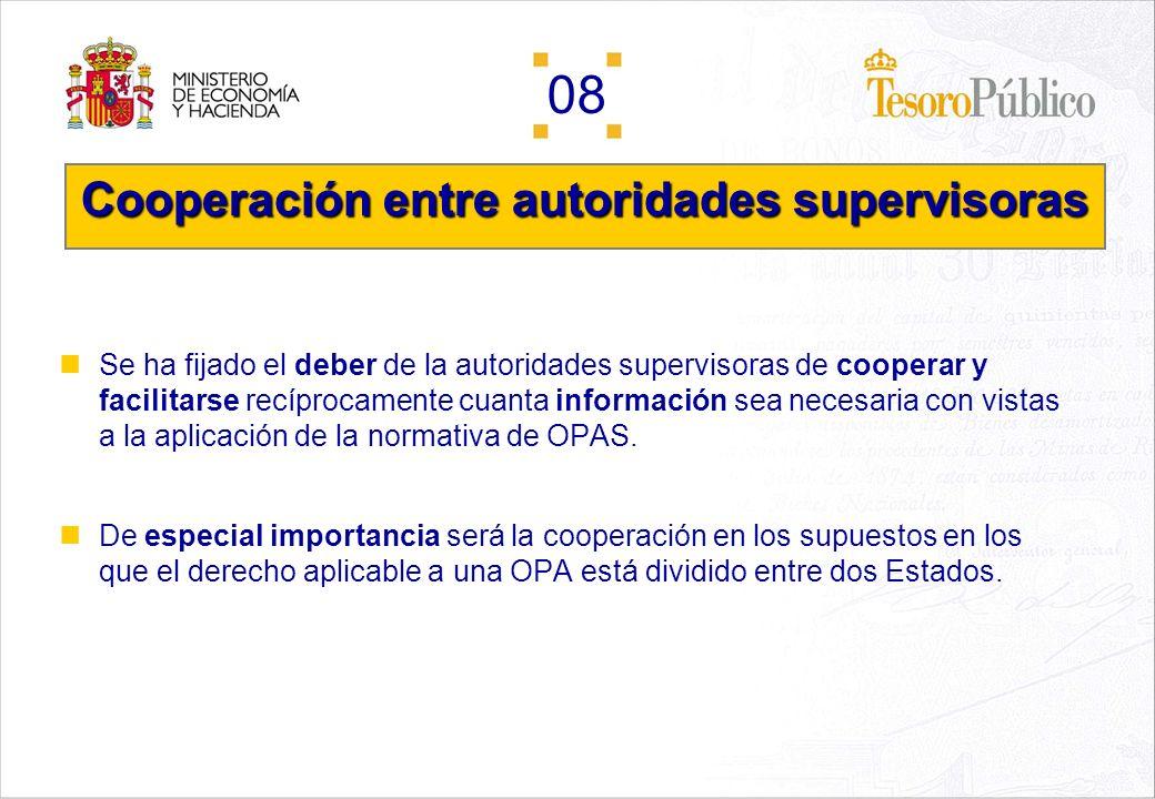 Cooperación entre autoridades supervisoras