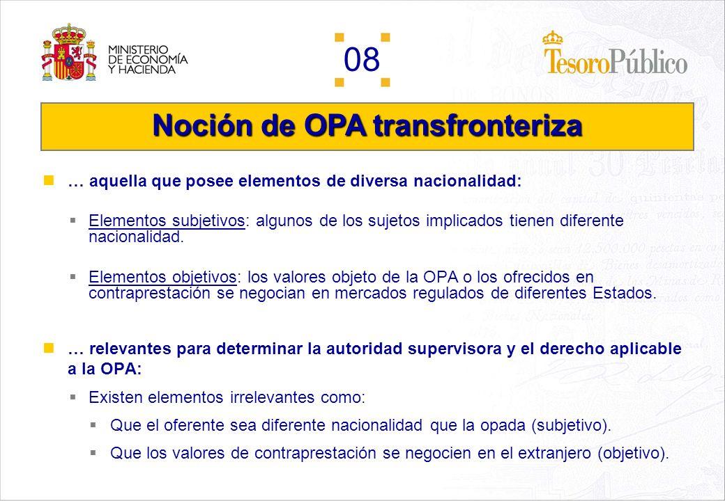 Noción de OPA transfronteriza
