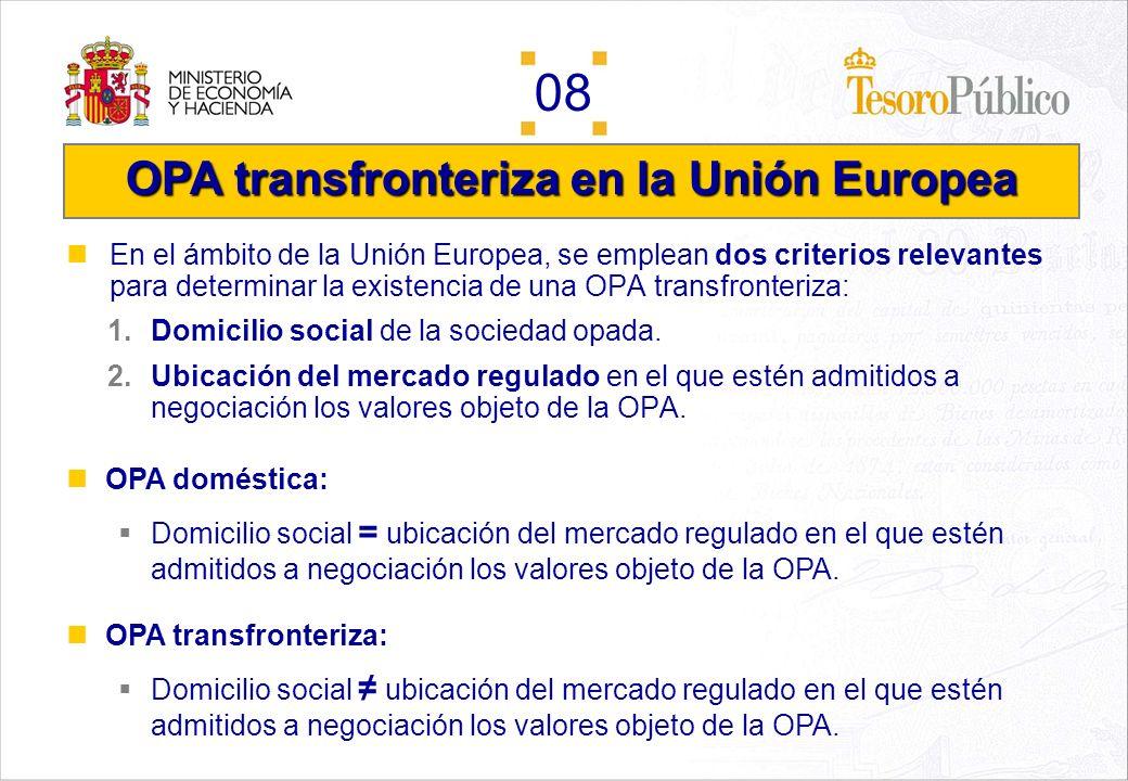 OPA transfronteriza en la Unión Europea