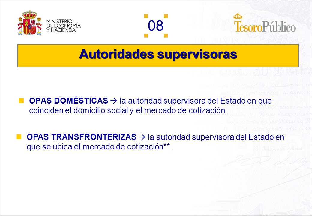 Autoridades supervisoras