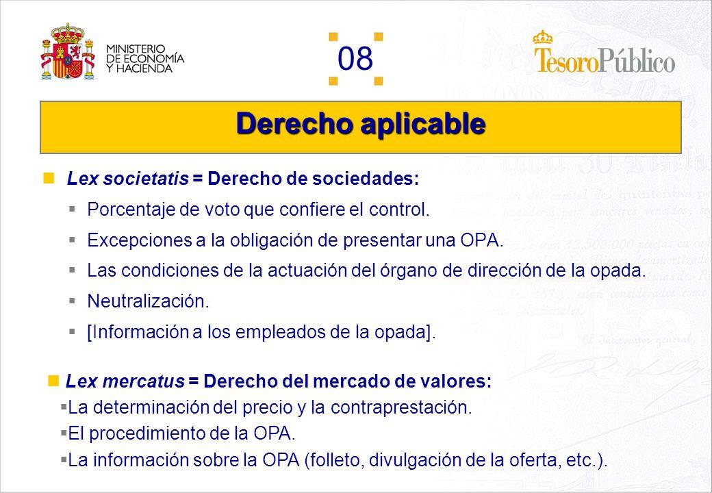 Derecho aplicable Lex societatis = Derecho de sociedades: