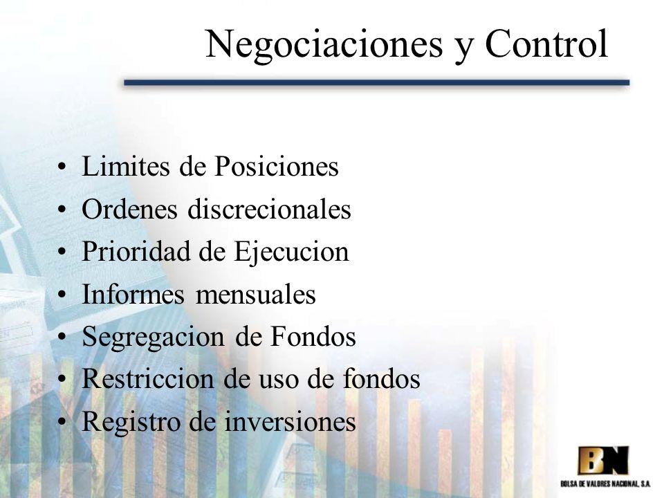 Negociaciones y Control