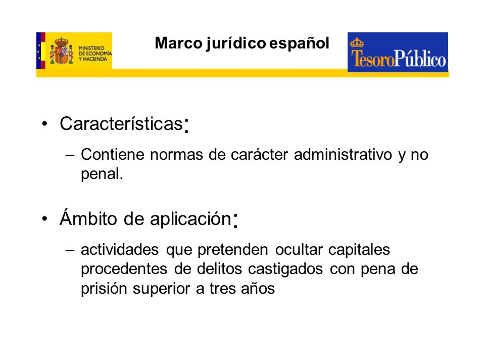 Marco jurídico español