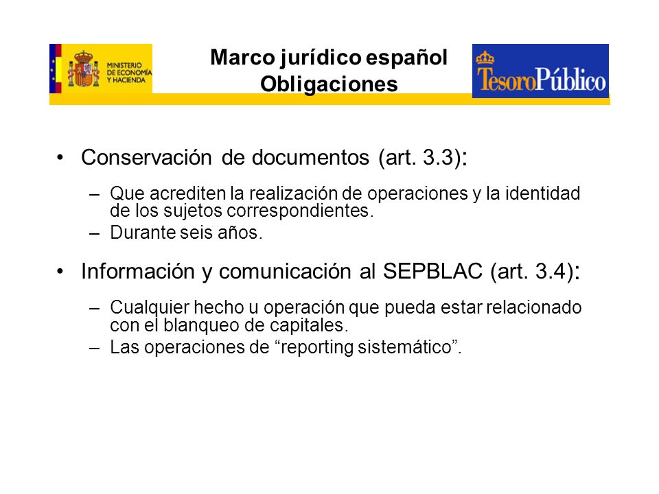 Marco jurídico español Obligaciones