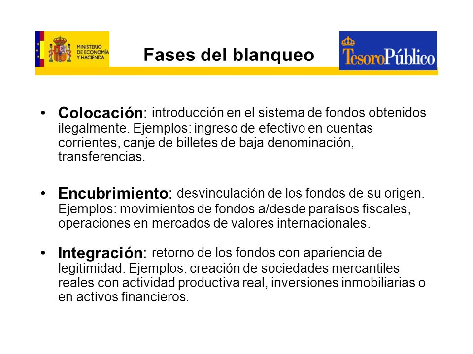 Fases del blanqueo