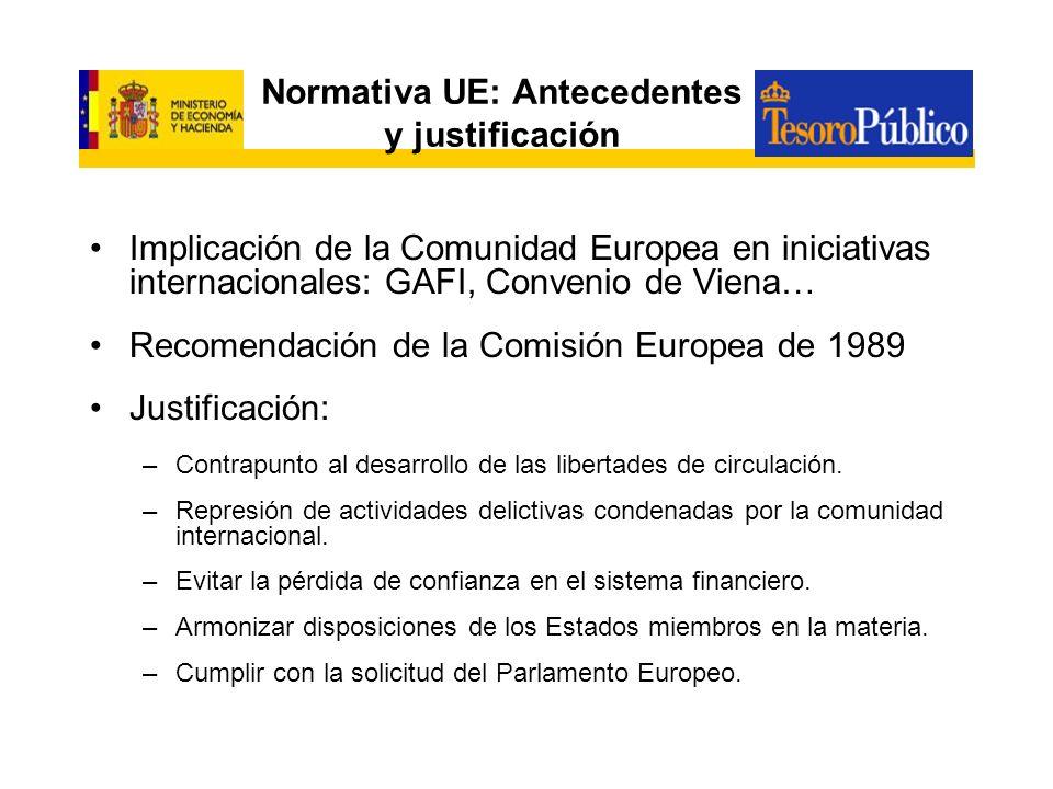 Normativa UE: Antecedentes y justificación