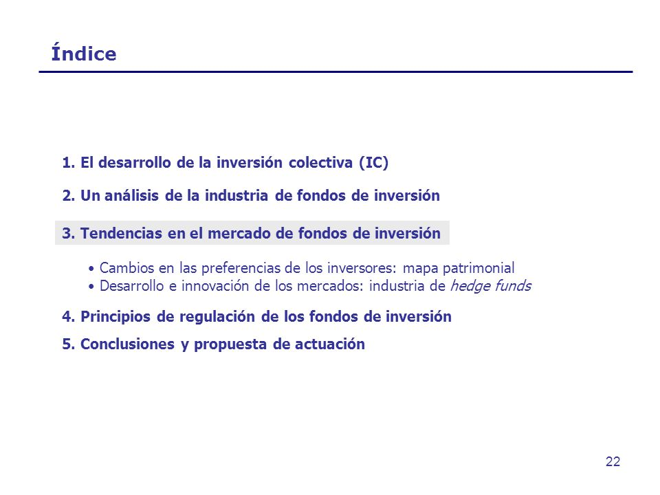 Índice 1. El desarrollo de la inversión colectiva (IC)