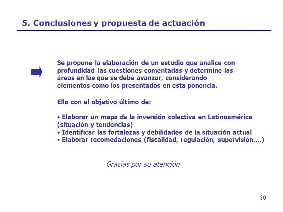 5. Conclusiones y propuesta de actuación