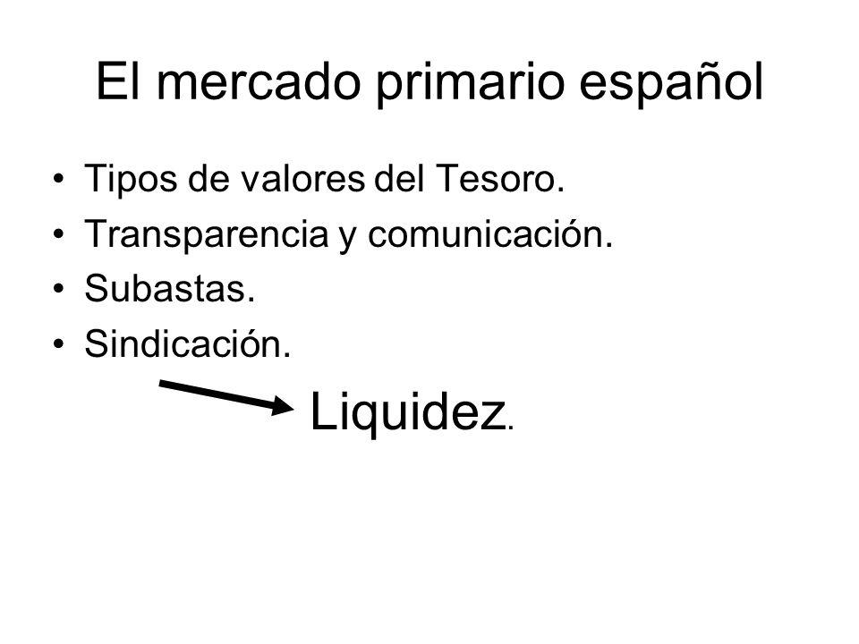 El mercado primario español