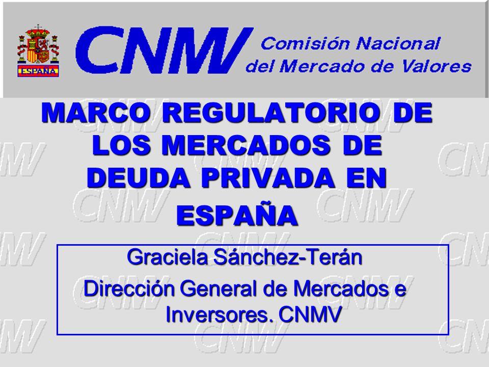 MARCO REGULATORIO DE LOS MERCADOS DE DEUDA PRIVADA EN ESPAÑA