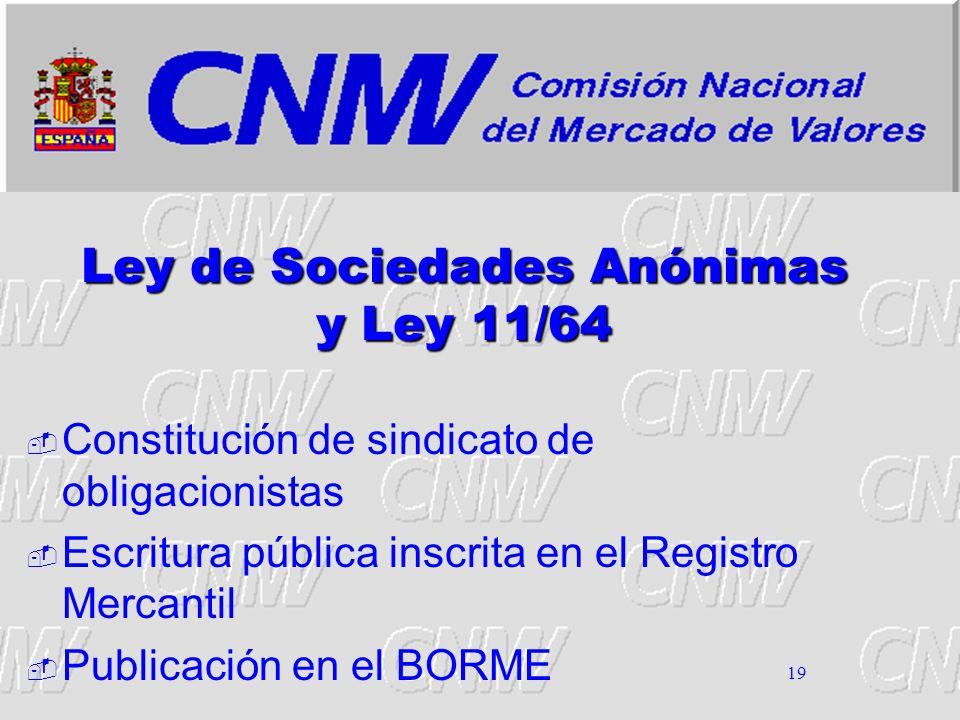 Ley de Sociedades Anónimas y Ley 11/64