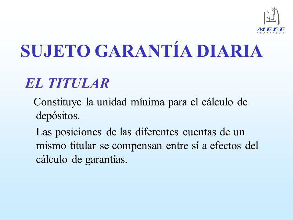 SUJETO GARANTÍA DIARIA