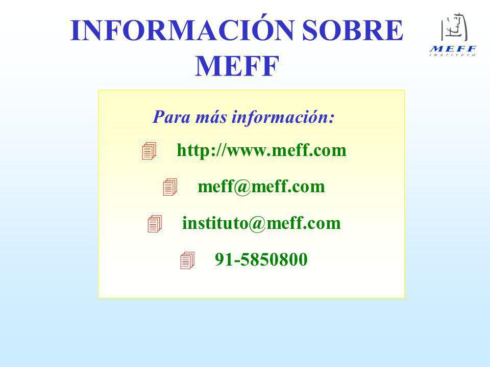 INFORMACIÓN SOBRE MEFF