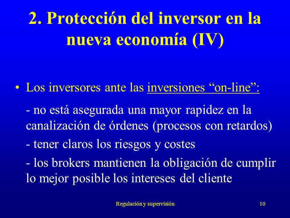 2. Protección del inversor en la nueva economía (IV)