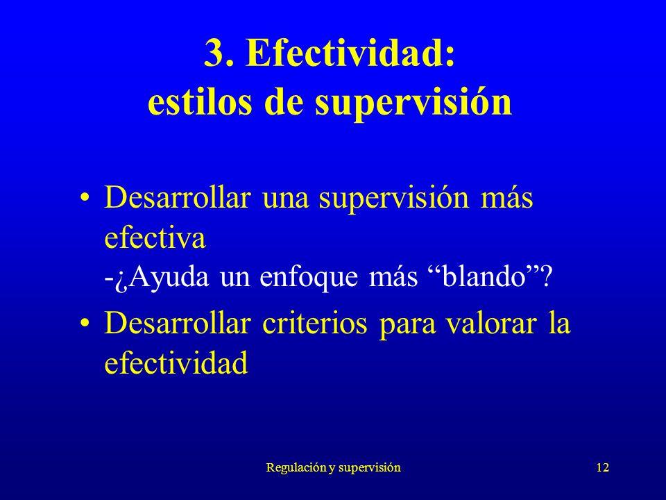 3. Efectividad: estilos de supervisión