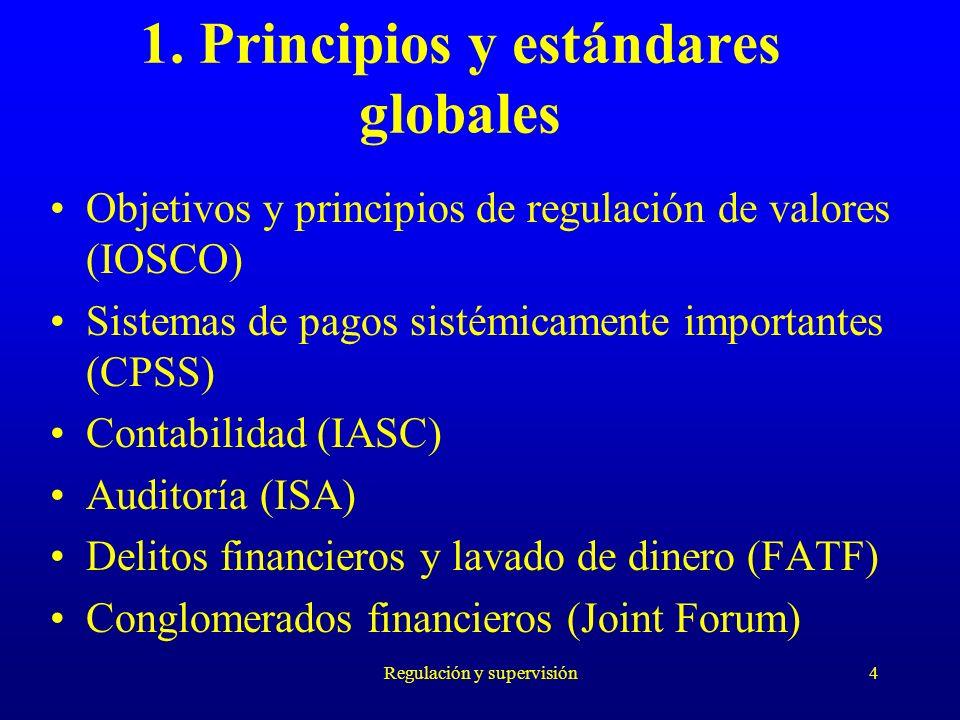 1. Principios y estándares globales