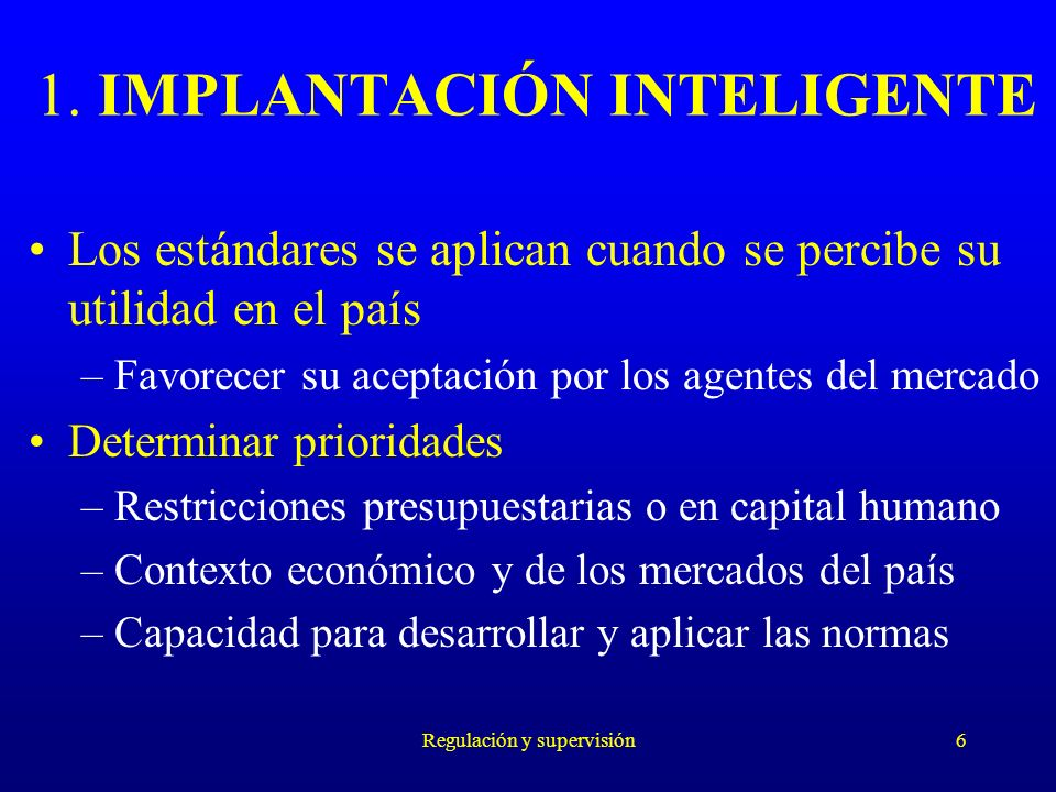 1. IMPLANTACIÓN INTELIGENTE