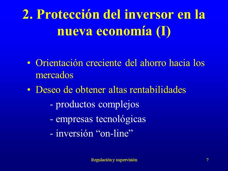 2. Protección del inversor en la nueva economía (I)