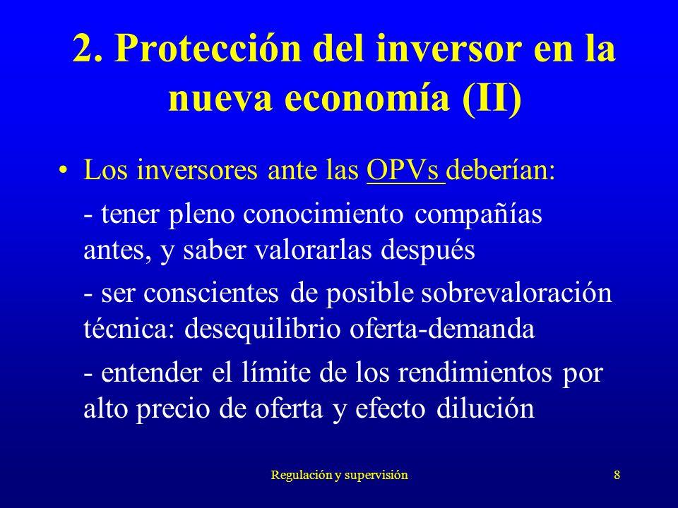 2. Protección del inversor en la nueva economía (II)