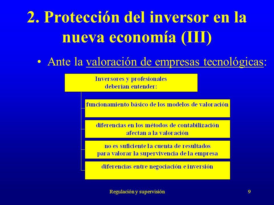 2. Protección del inversor en la nueva economía (III)