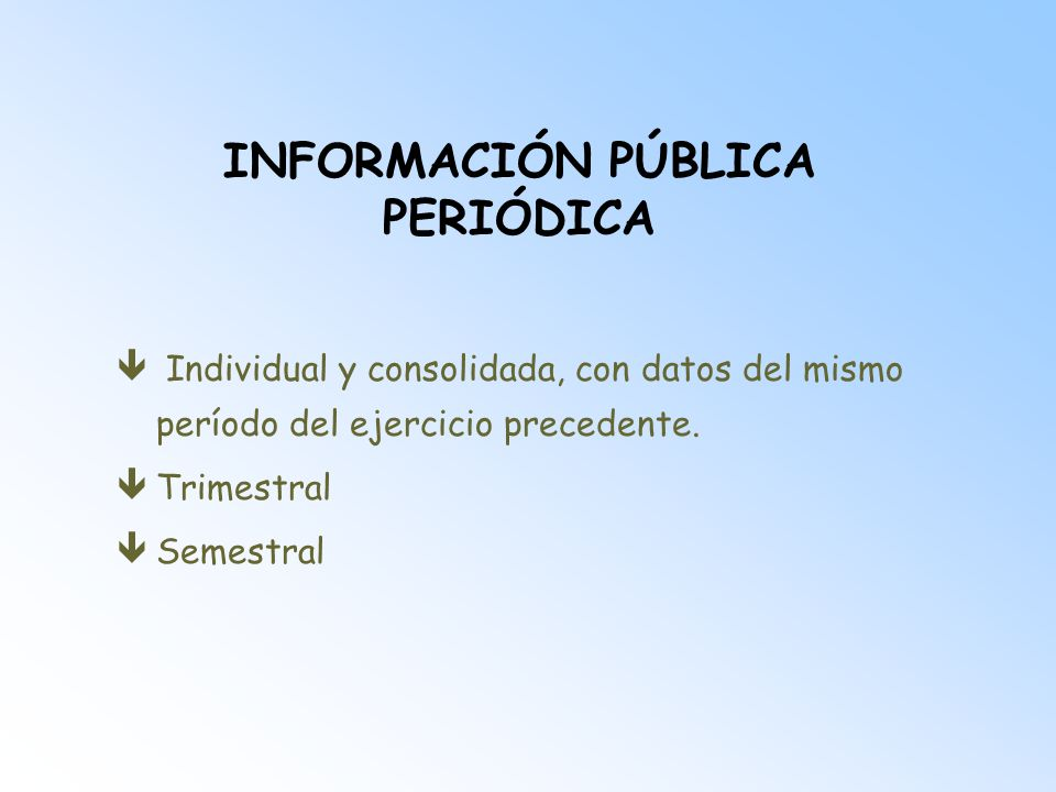 INFORMACIÓN PÚBLICA PERIÓDICA