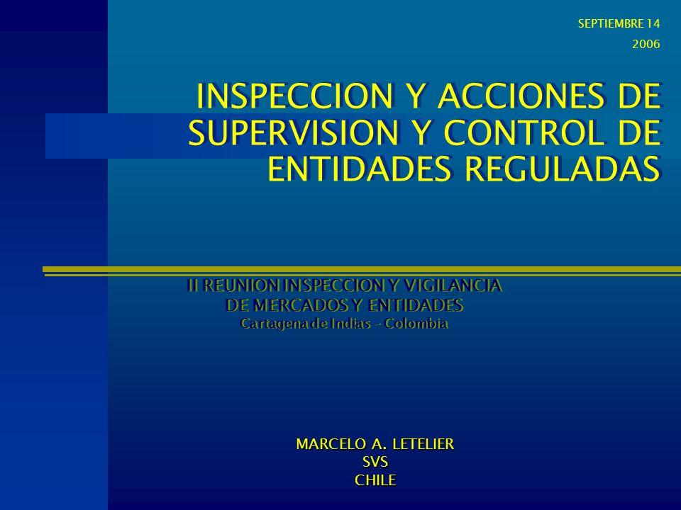 INSPECCION Y ACCIONES DE SUPERVISION Y CONTROL DE ENTIDADES REGULADAS