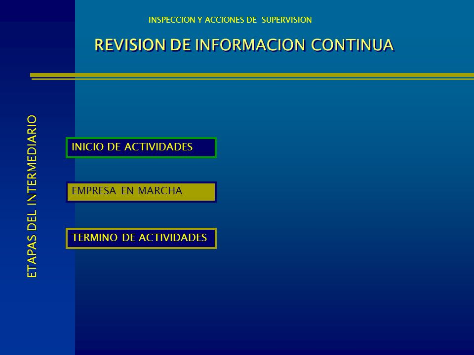REVISION DE INFORMACION CONTINUA