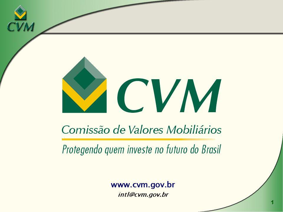 www.cvm.gov.br intl@cvm.gov.br www.cvm.gov.br