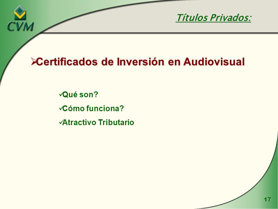 Certificados de Inversión en Audiovisual