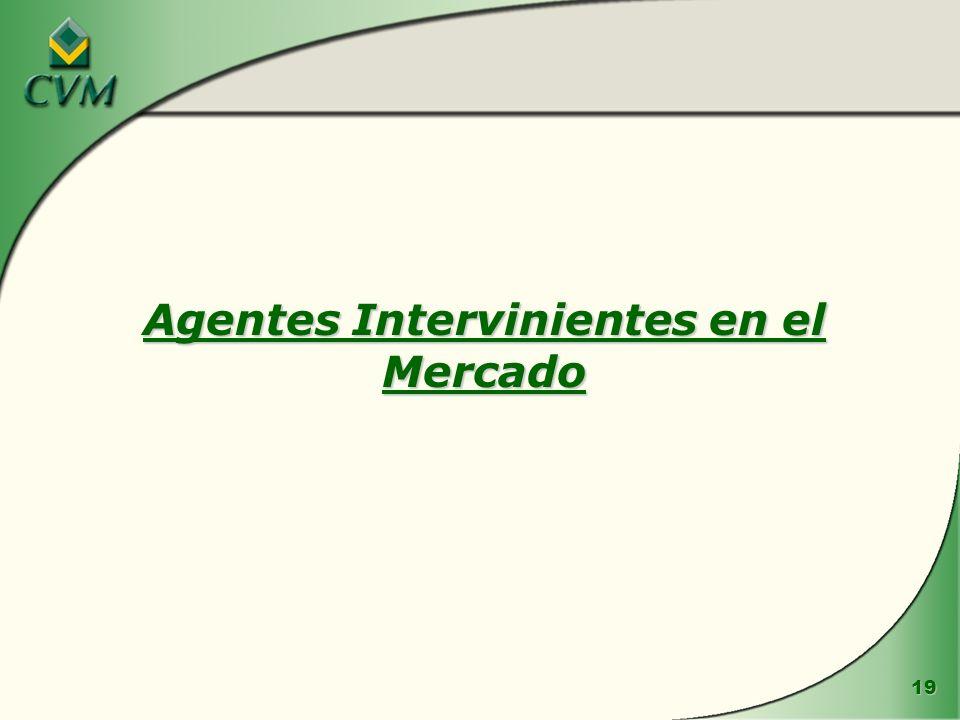 Agentes Intervinientes en el Mercado