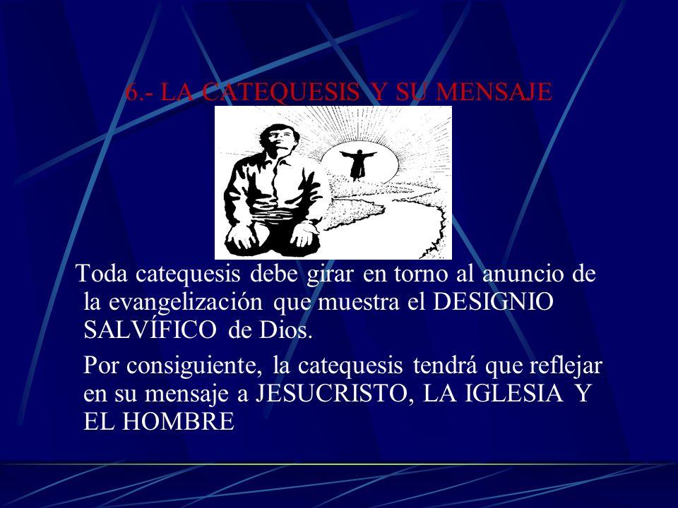 6.- LA CATEQUESIS Y SU MENSAJE