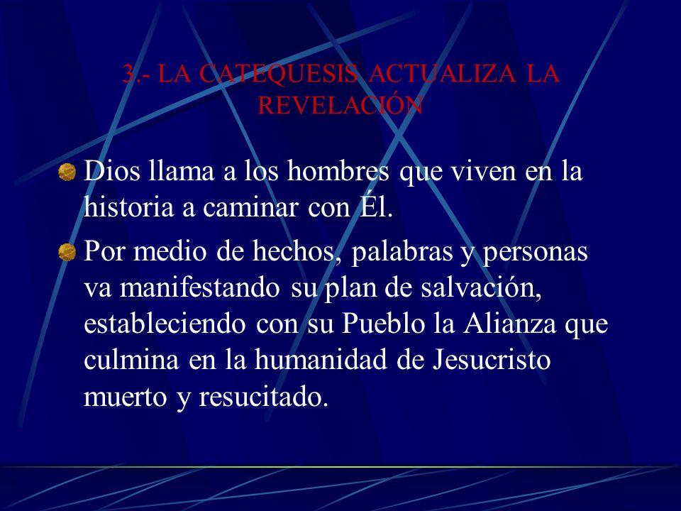 3.- LA CATEQUESIS ACTUALIZA LA REVELACIÓN