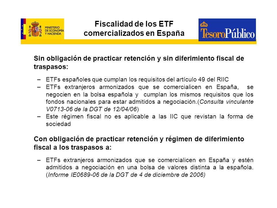 Fiscalidad de los ETF comercializados en España