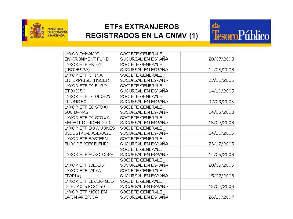 ETFs EXTRANJEROS REGISTRADOS EN LA CNMV (1)
