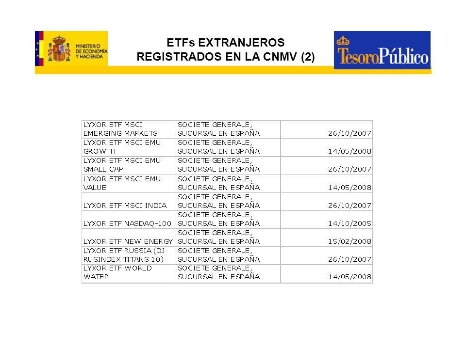 ETFs EXTRANJEROS REGISTRADOS EN LA CNMV (2)