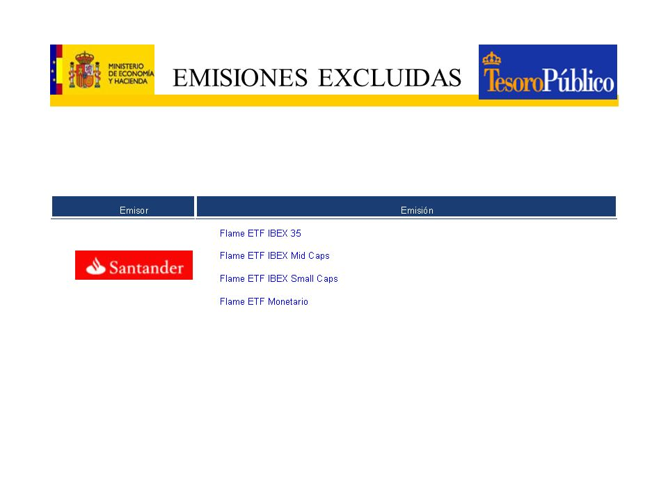 EMISIONES EXCLUIDAS