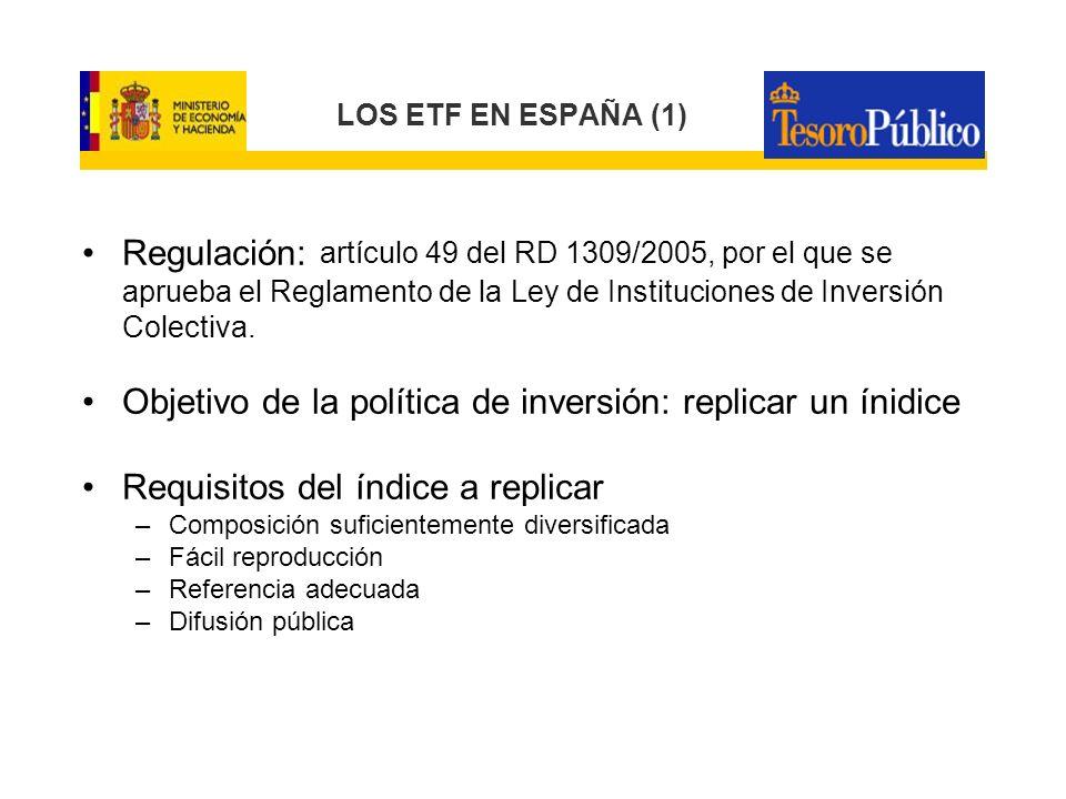 Objetivo de la política de inversión: replicar un ínidice