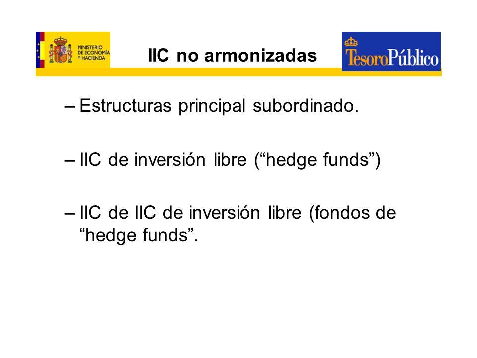 IIC no armonizadasEstructuras principal subordinado.